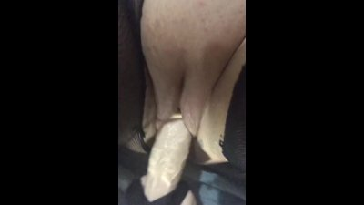 Fucking machine with squirting dildo