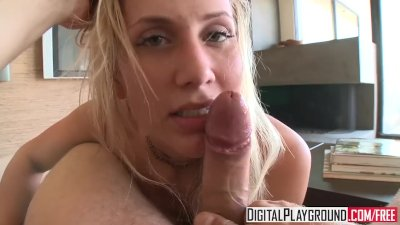 Digital Playground - Alanah Rae gives a pov blowjob and tit job