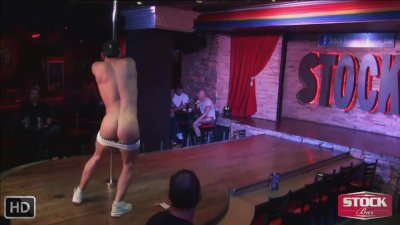 best gay male strippers LIVE from famous Montreal Stock bar