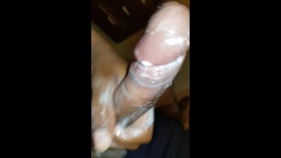 Made myself cum a second time, CUM on my belly,soap on my DICK, EXTRA MESSY