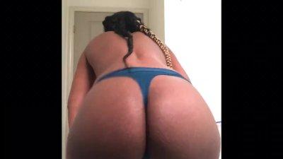 Twerking in a thong