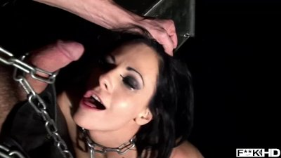 Slim BDSM slut Liz fucked balls deep while in chains & screaming for more