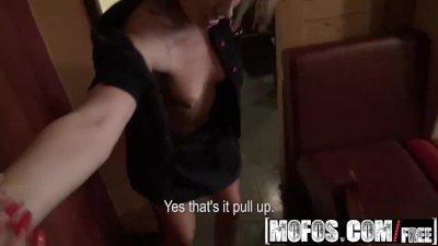 Mofos - Slutty barmaid Rihanna Samuel gets fucked in backroom