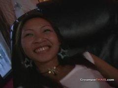 Cute 18yr old Thai creampie