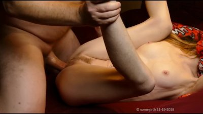 Quivering Moaning Tiny Petite Skinny Babe Orgasms on Super Thick Cock Prevw
