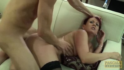 PASCALSSUBSLUTS - Spicy redhead Bree Branning roughly fucked