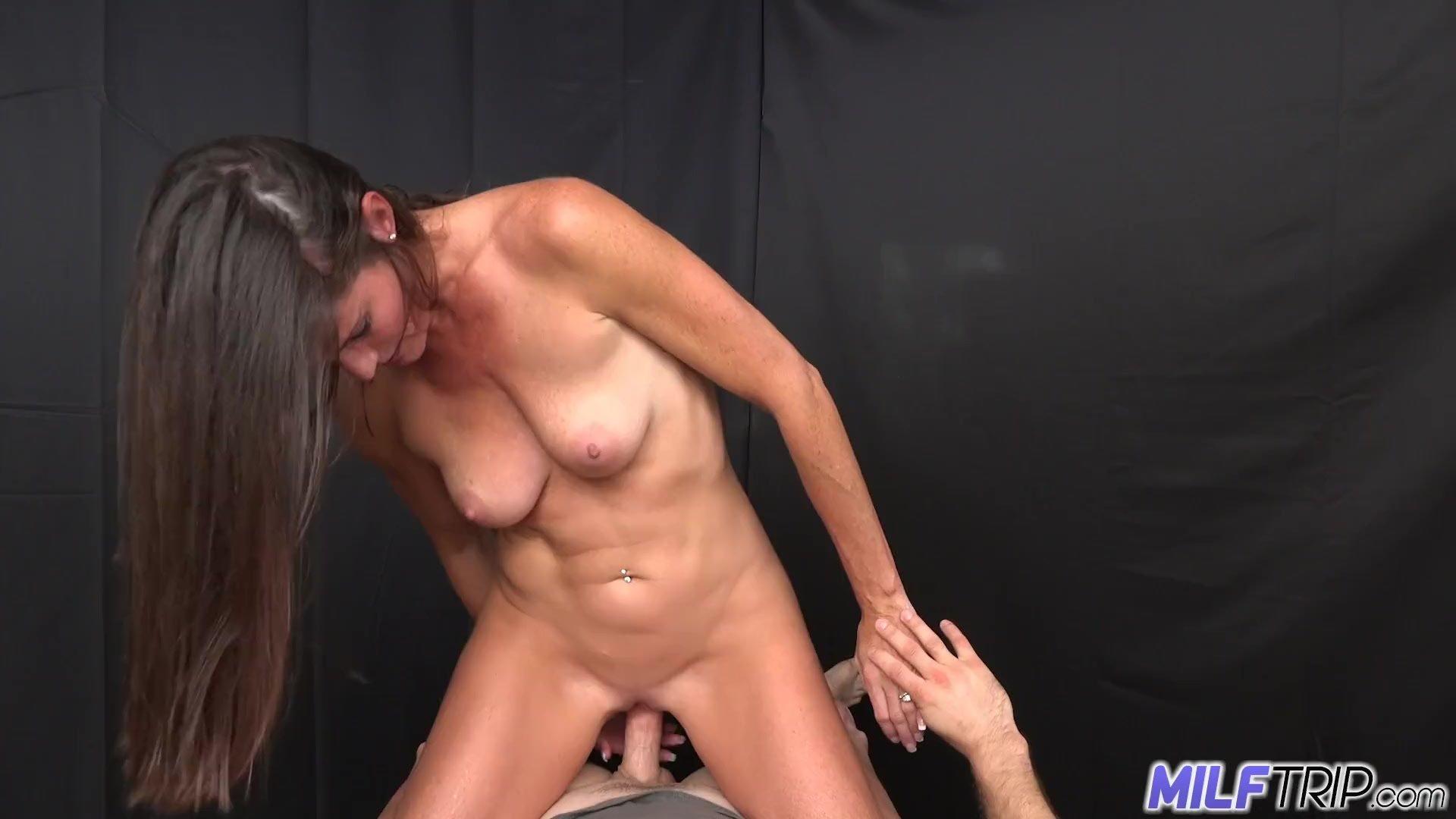 Big boobs/big smoking brunette takes trip