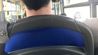 Real Amateur Public Handjob Risky in BUS !!! People seat near ...