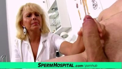 Lady doctor Koko Margit old young medical handjob