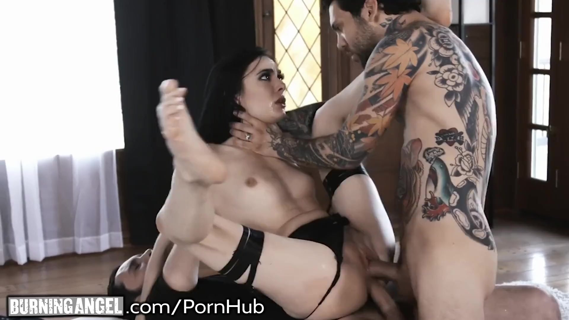 BurningAngel Skinny Emo Marley Brinx Double Penetrated!