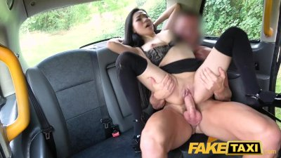 Fake Taxi Hot Japanese petite babe Rae Lil ebony shows deepthroat skills