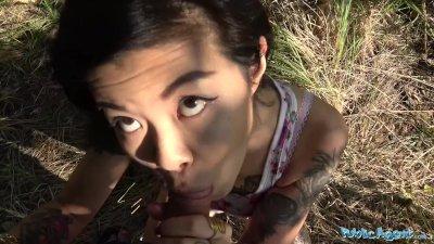 Public Agent Hot Asian chick Akasha Coliun loves girthy cock fuck
