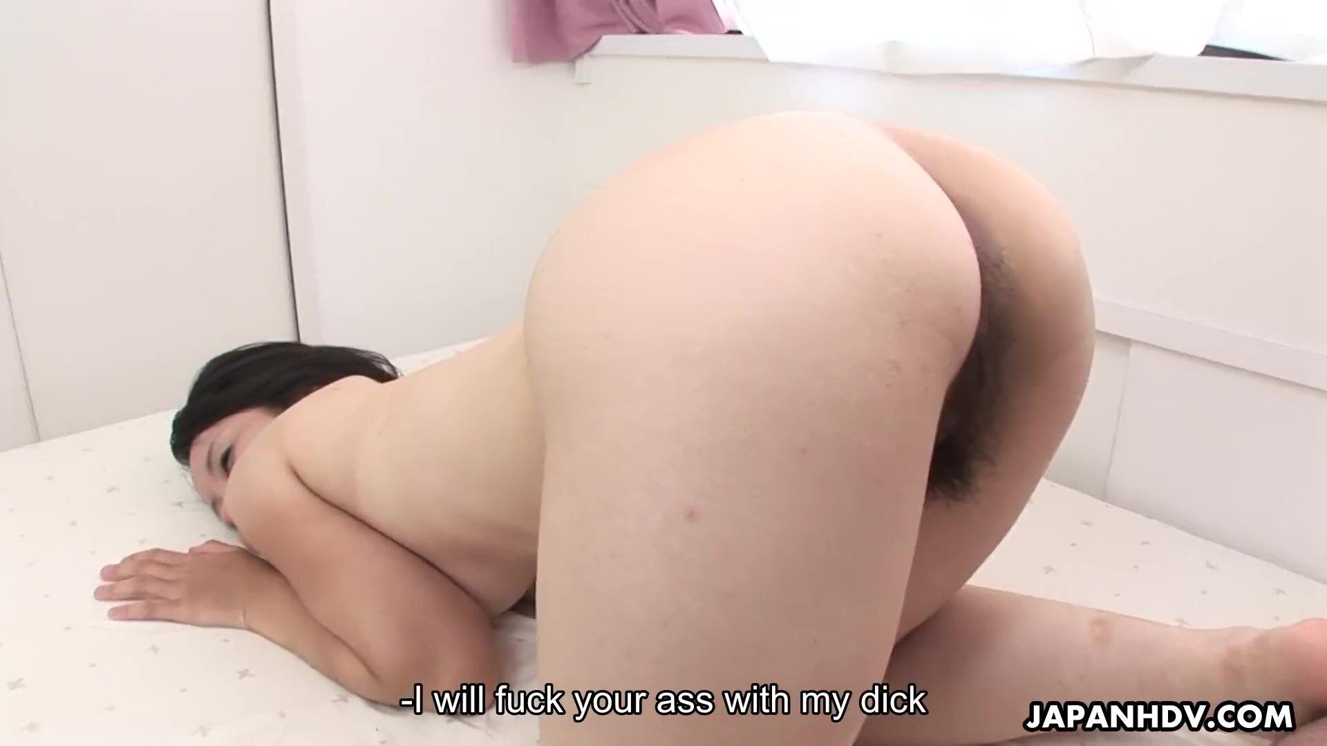 Ruri Yoshikawa Anal stimulation with sex toy