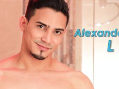 Alenanders L on Flirt4Free – Athletic Gay Hispanic Slides Dildo in His Ass