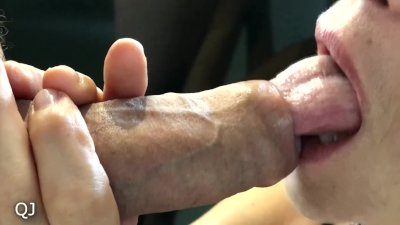 Cum with blowjob tongue licking foresckin - I think you should try this!!!
