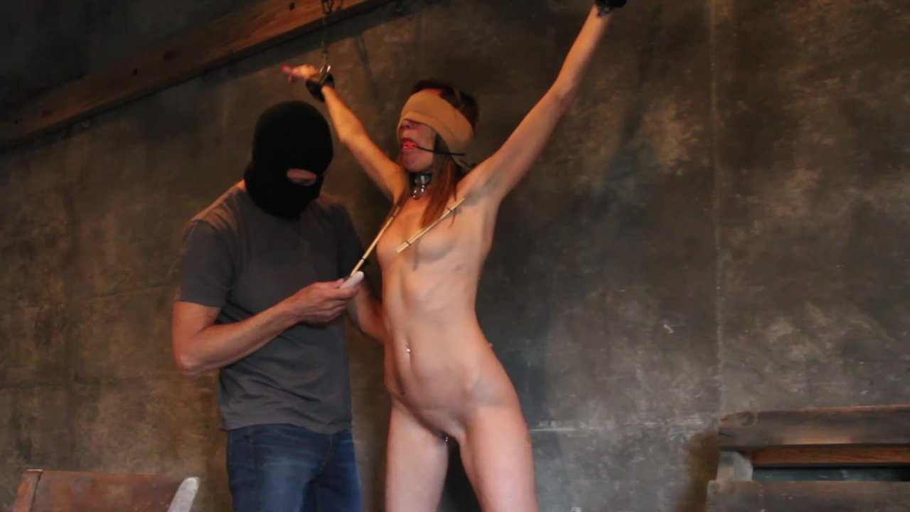 chained spanked Three