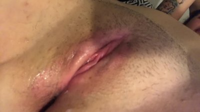 Eating creamy pussy close up