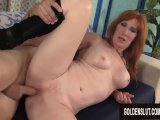 older ginger freya fantasia blows a long cock before getting drilledPorn Videos