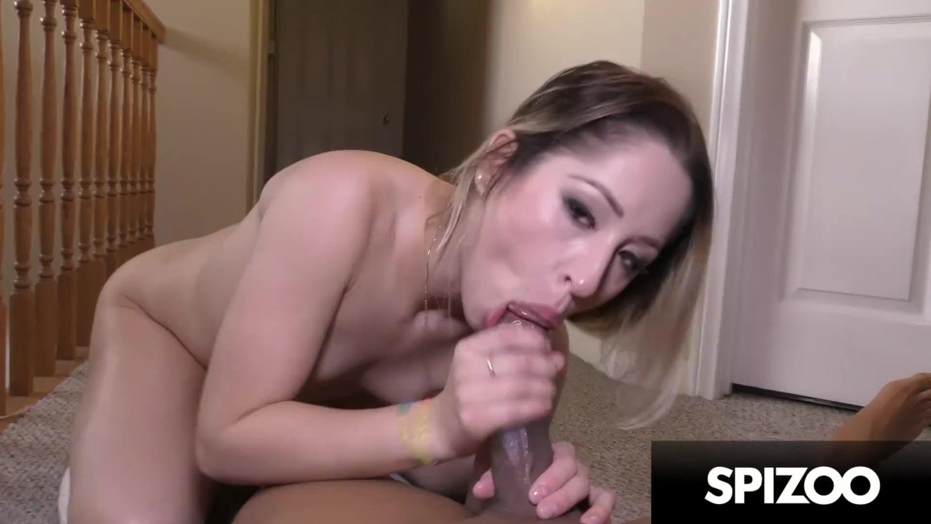 Bubble Butt Latina Sucking a Big Black Cock (Goldie Rush) - Spizoo