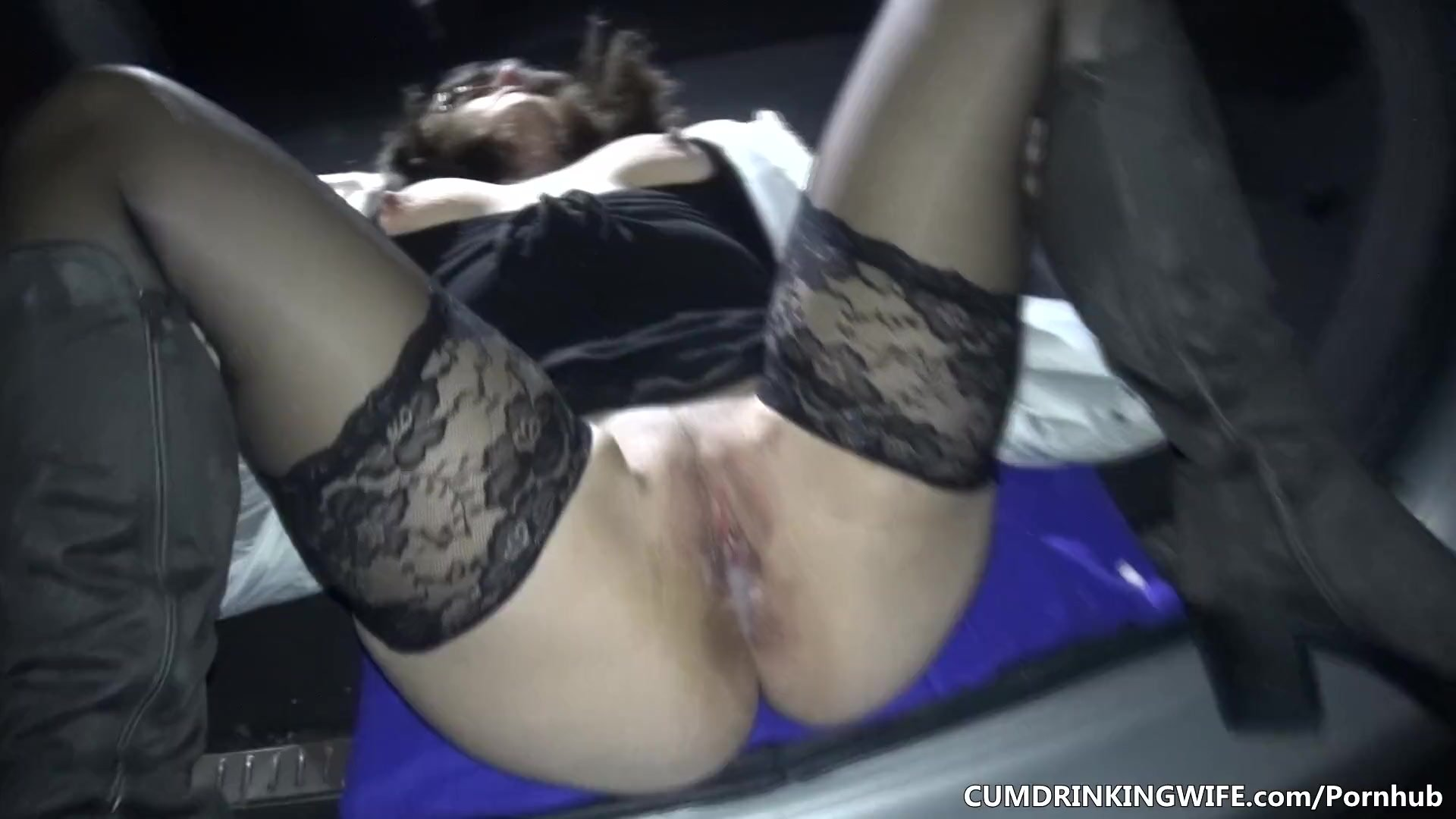 Public/cumdrinkingwife/in her strangers by car