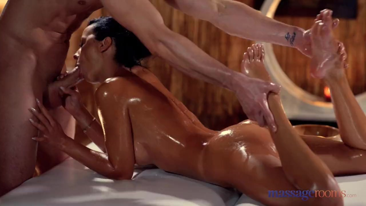 Massage Rooms Sexy brunettes hot tight slick tanned body fucked