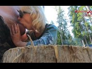 blonde fucks in ass and sucks in the forest / amateur cherryaleksa3gp Porn Videos