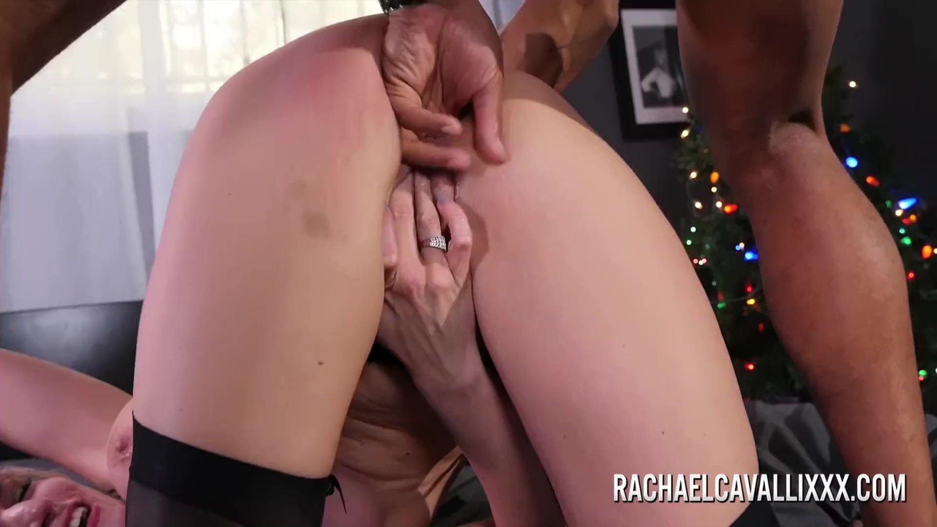 Big tit blonde Rachael Cavalli enjoys a big black cock
