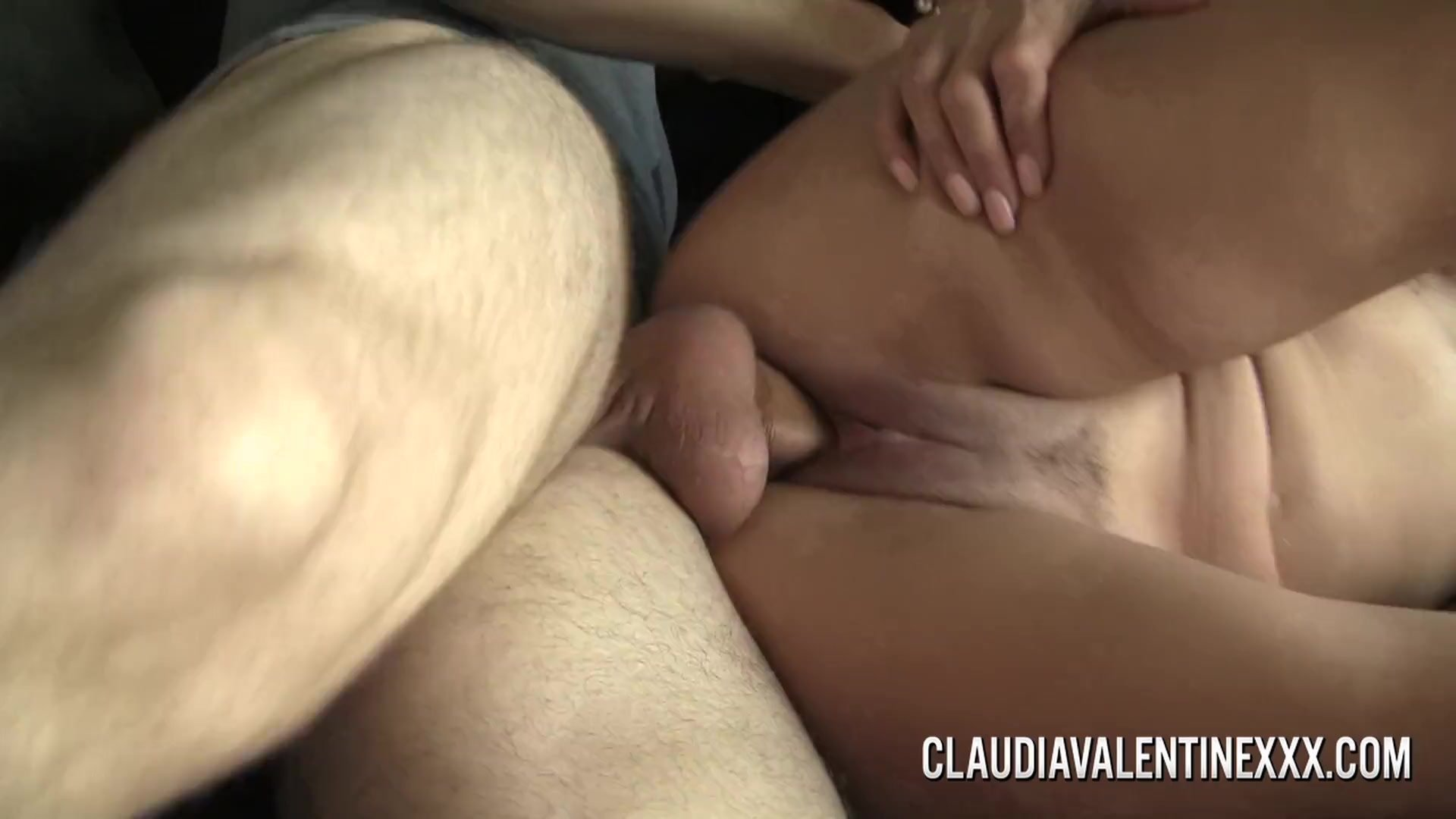 Busty MILF Claudia Valentine distracts her man with sex