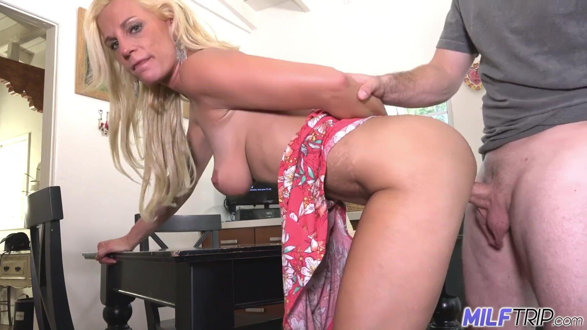MILF Trip - Big boobed blonde MILF gets fat white dick - Part 1
