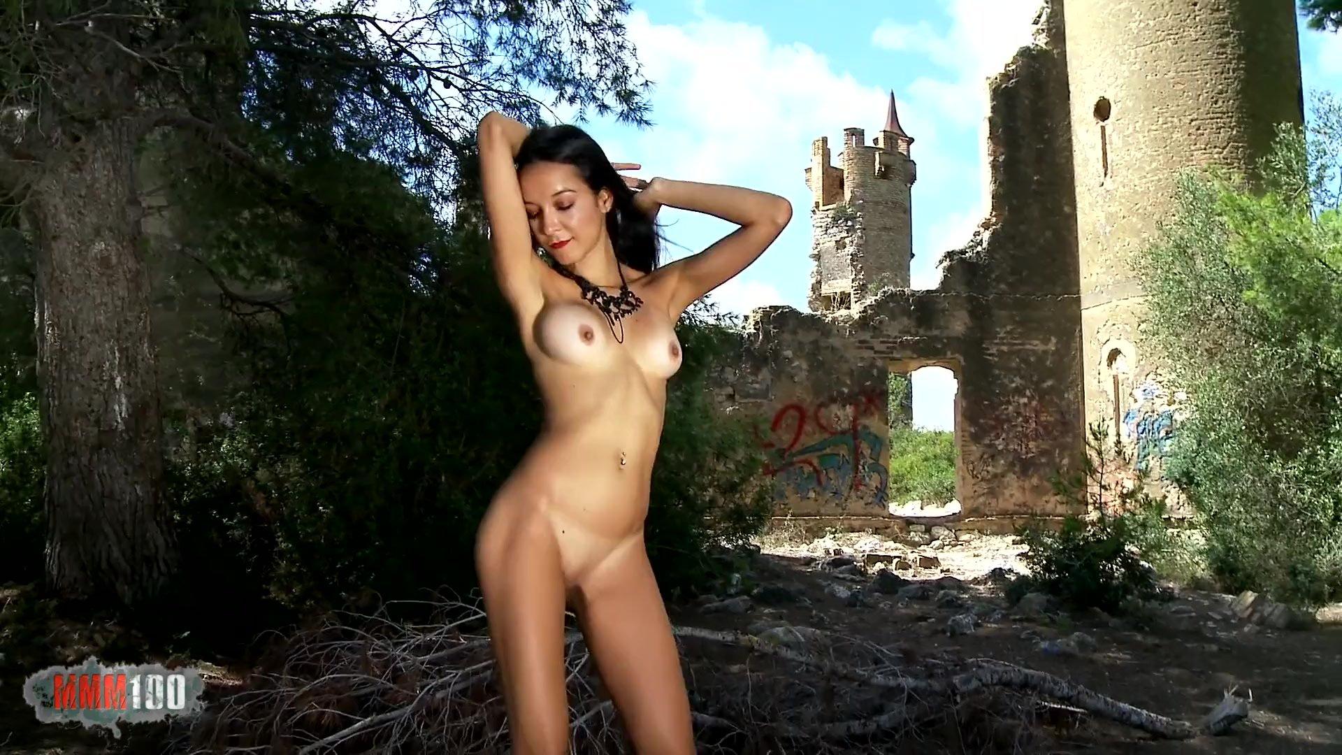 Pornstar brunette Francys Belle dancing and stripping