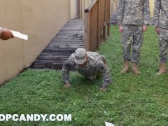 TROOP CANDY – Drill Sergeant Dustin Steel Drills His Soldiers' Asses