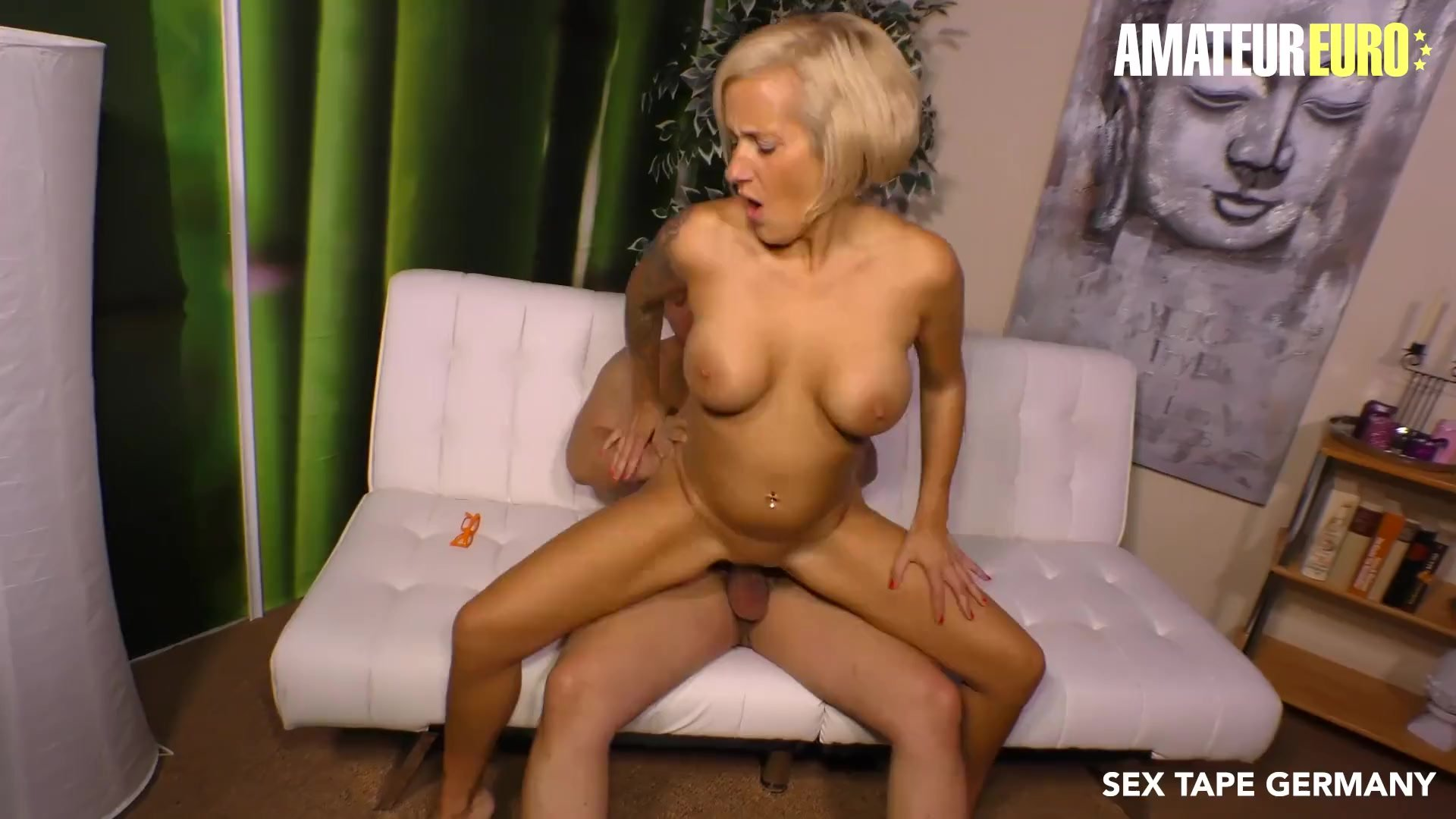 AmateurEuro - Super Hot German MILF Fucked Hard On Her First SEX TAPE
