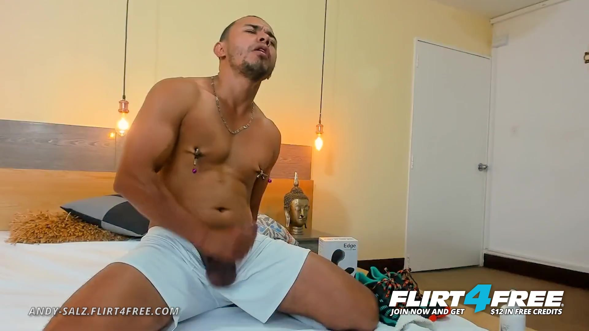 Big cock/jerks flirt4free clamps off