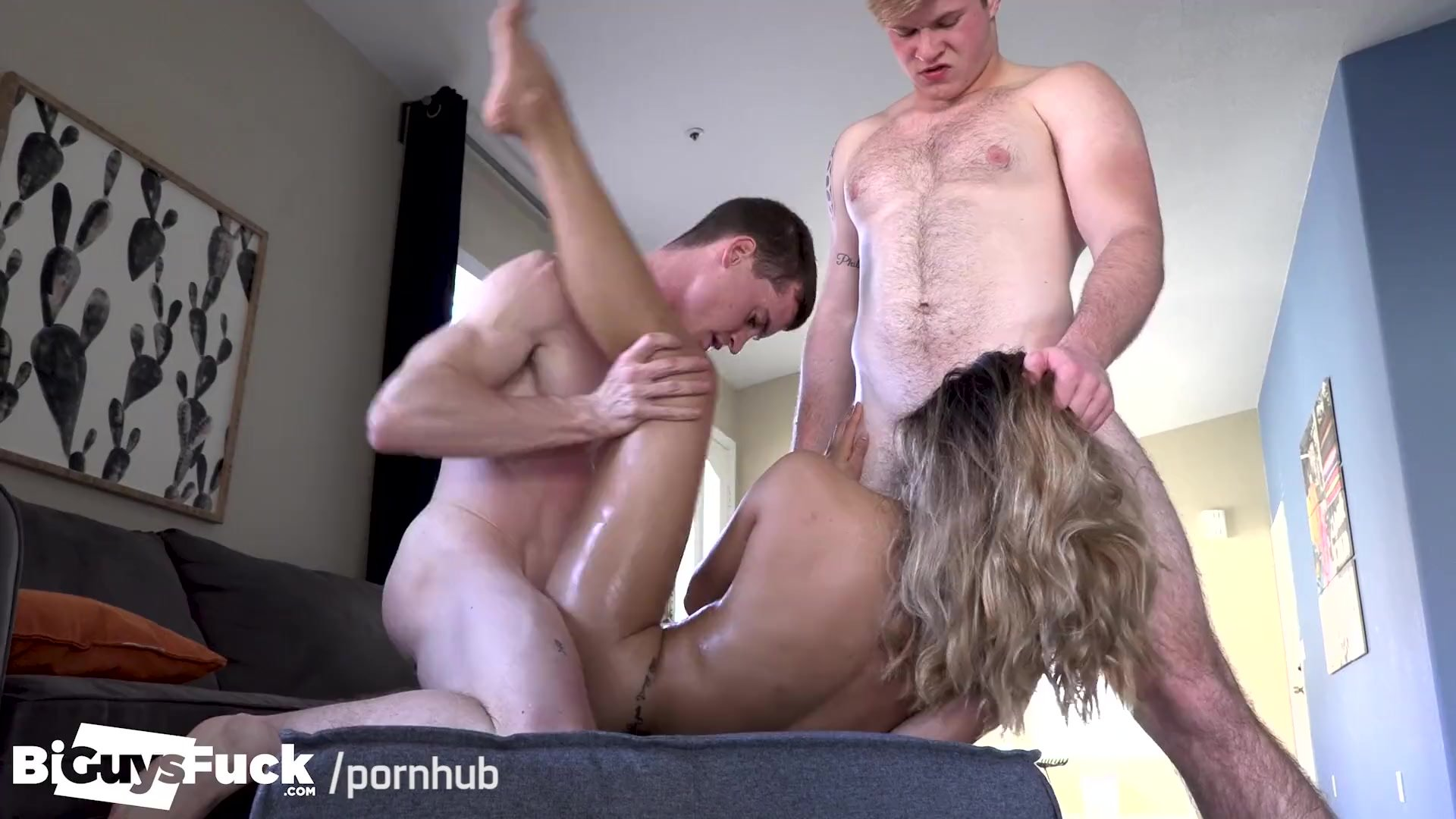 SEXY AF! Asian Sexy Girl Gets 2 Hot Jocks To Fuck Her & Each Other!