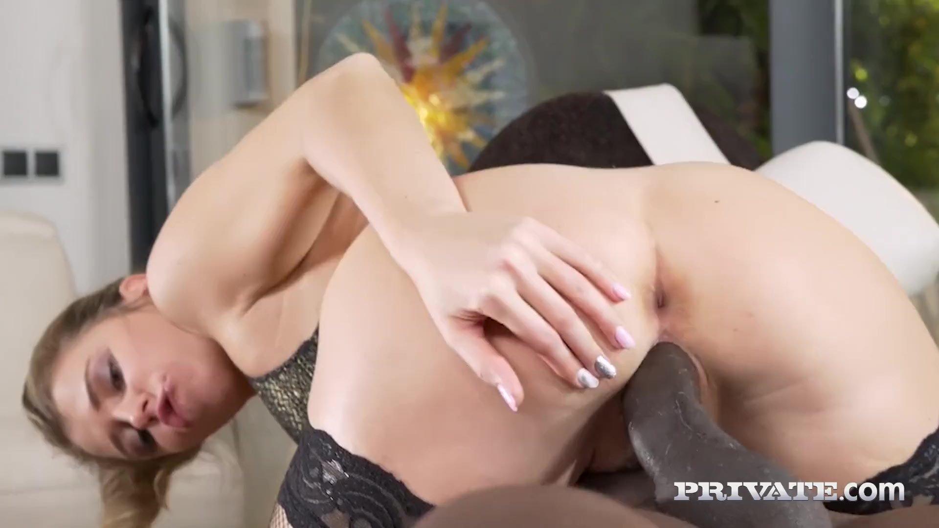 Private.com - Lingerie Babe Mary Kalisy Fucks Big Black Cock
