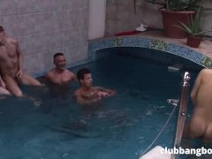 Twinks Enjoy Being Watched – Threesome by the Pool