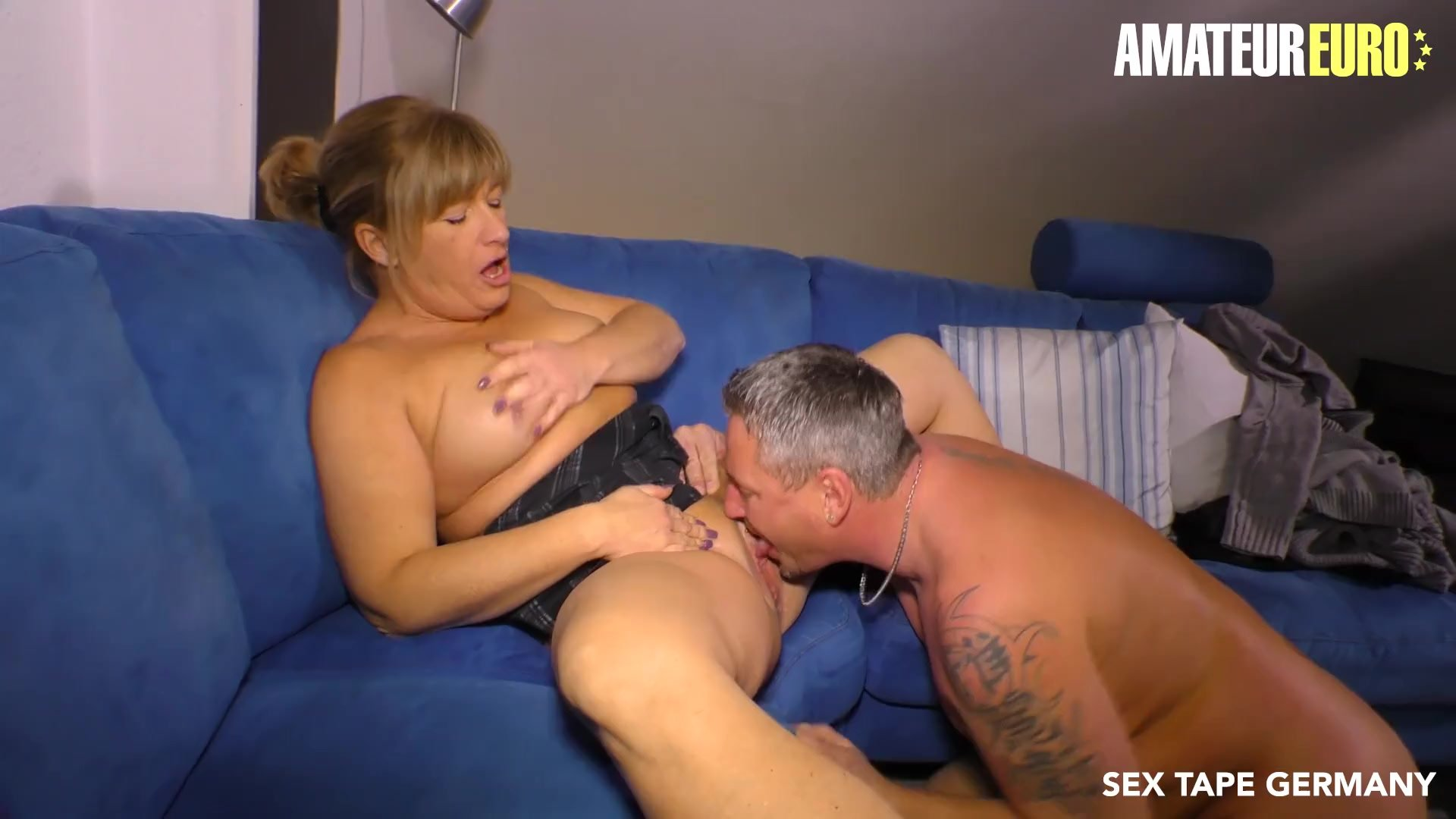 AmateurEuro - Chubby Amateur German Wife Squirts In Her First SEX TAPE