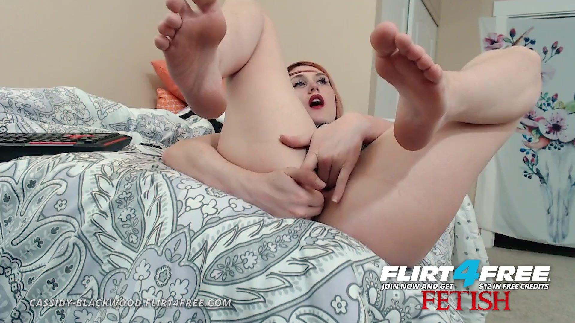 Cassidy Blackwood on Flirt4Free Fetish - Hot Camgirl Roleplays Foot Fetish