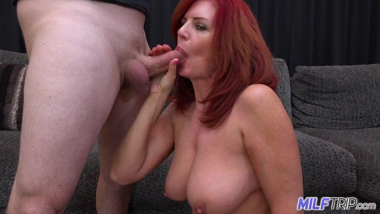 throat head Big red video deep tits