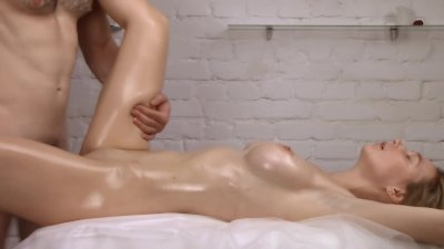 Cum Onto Oiled Pussy - Her Perfect Body Makes Me So Hard!
