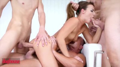 Doghouse Digital - Amirah Adara gets gangbanged by four big dicks at once