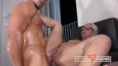 German Blondie JANA SCHWARZ FUCKED and fed CUM! WOLF WAGNER wolfwagner.love