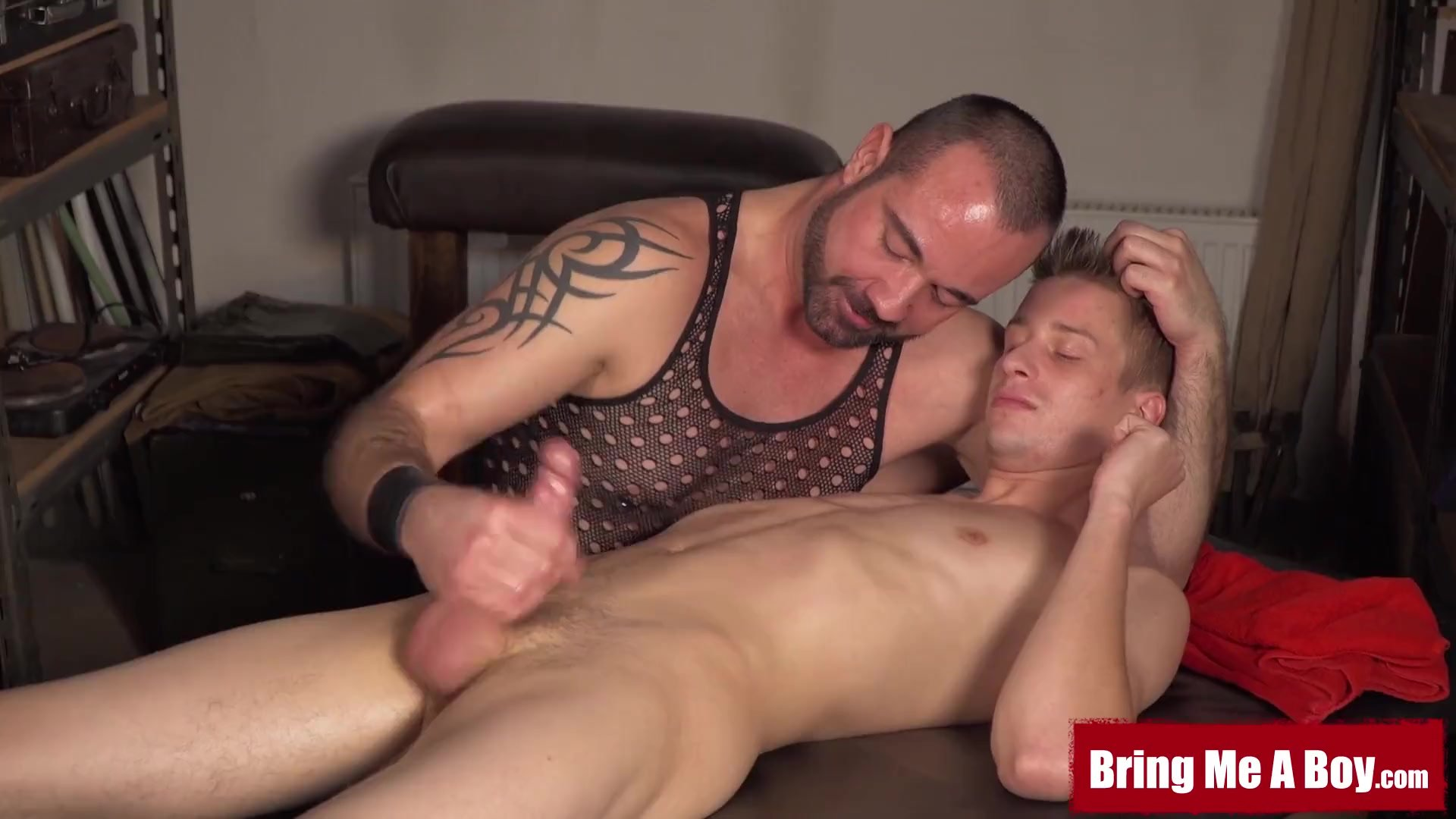 Massage/sucked/masseur young oiled and by