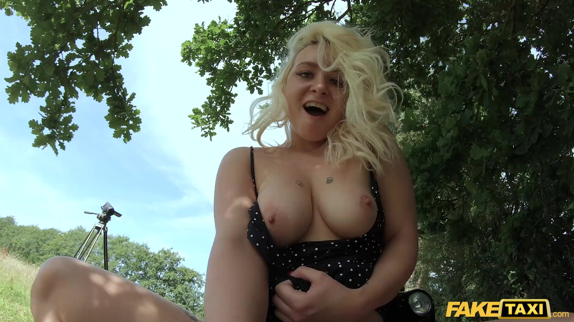 Fake Taxi British blonde Candy Banks fucked by a taxi driver
