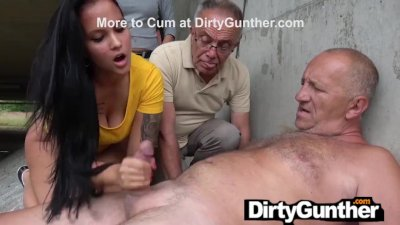 Mother and Stepdaughter Take Care of Old Gunther