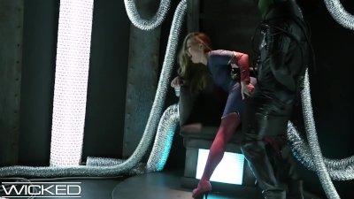 [HD]  WickedParodies - Supergirl Seduces Braniac Into Anal Sex