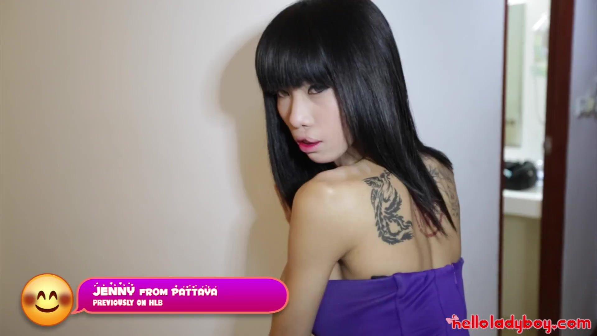 HELLOLADYBOY Big Tit Thai Beauty Jerks Off Lucky Newcomer