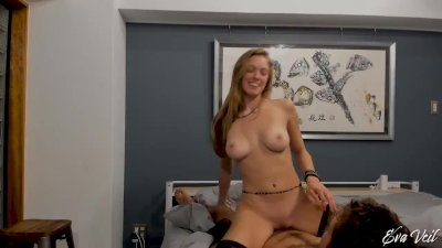 Sexy couple suck and fuck each other on Live Cam Chaturbate - Eva Veil