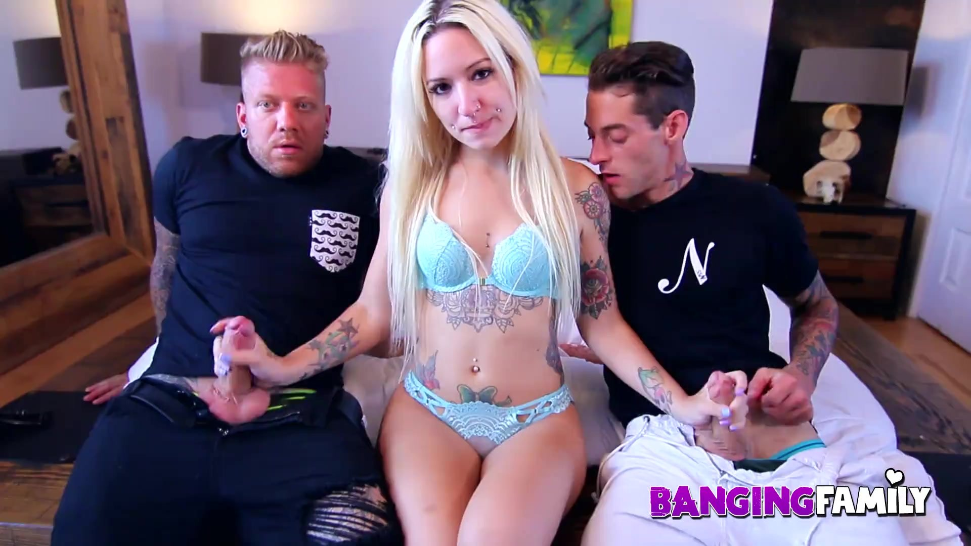 Banging Family - Petite Inked Step-Sis Banged Up The Butt