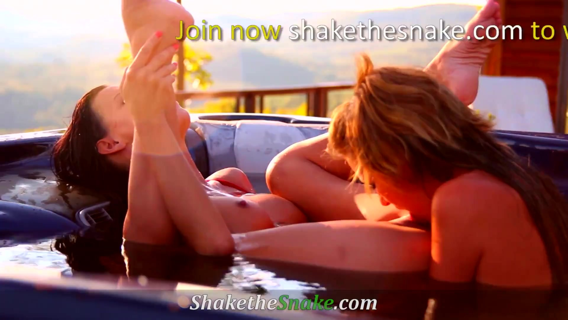Shake The Snake - Girl on Girl Action with Super Hot Amateurs